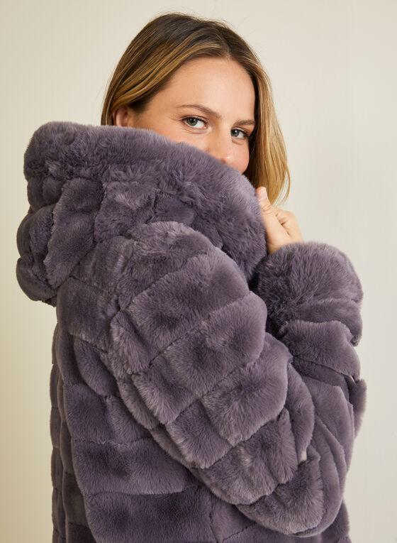 Faux Fur Reversible Coat, Purple