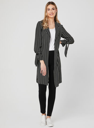 Stripe Print Duster Jacket