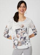 T-shirt à fleurs et dos en crochet, Noir