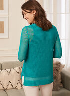 Crochet Sweater With Tank, Blue