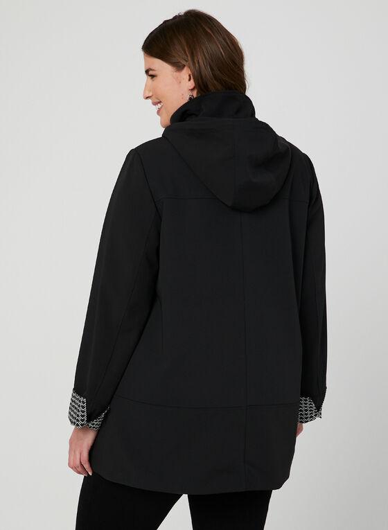 Manteau imperméable à capuchon, Noir, hi-res