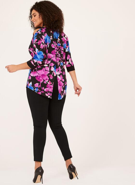 Floral Print Cold Shoulder Tunic, Multi, hi-res