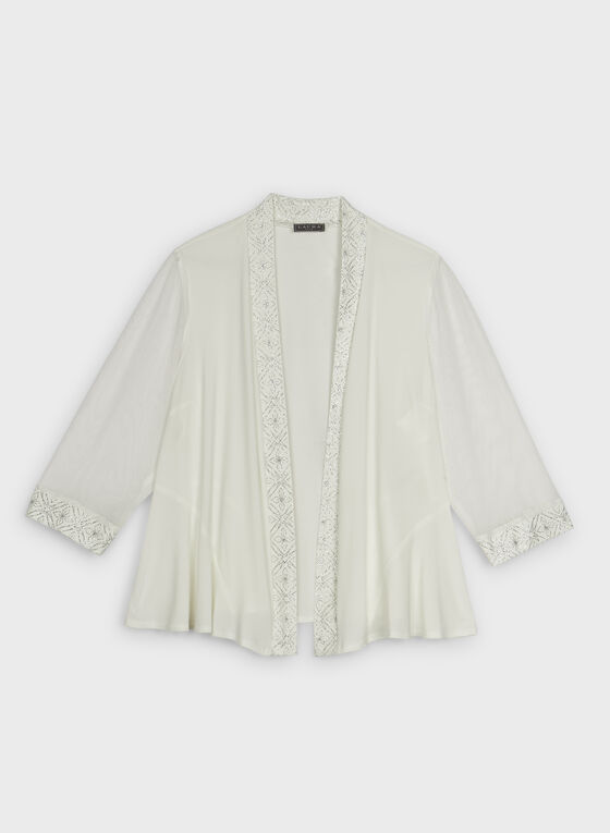 Glitter Trim Bolero, Off White