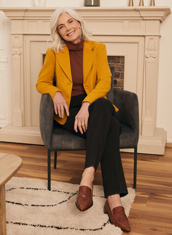 Wool & Cashmere Blend Jacket, Yellow,  jacket, wool, cashmere, 2 button, notch collar, pockets, spring summer 2021