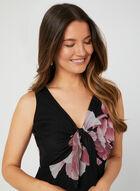 Nina Leonard - Floral Print Dress, Black, hi-res