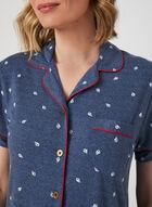 Claudel Lingerie - Chemise de nuit boutonnée, Bleu, hi-res