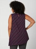 Haut sans manches à motif géométrique, Violet, hi-res