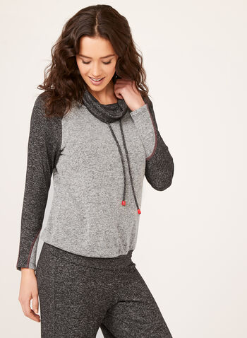 Sweater Knit Top, Grey, hi-res