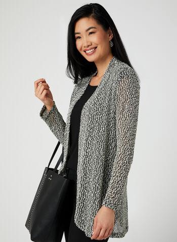 Alison Sheri - Open Front Knit Top, Black, hi-res