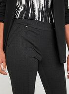 Charlie B - Pantalon pull-on coupe cité à carreaux, Noir, hi-res