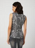 Vex - Abstract Print Sleeveless Top, Black, hi-res