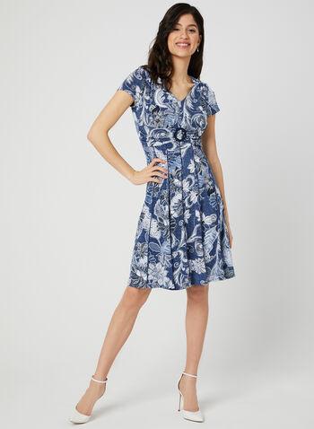 c4a9cd17efc2 Floral Print Fit   Flare Dress