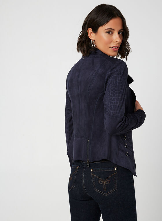 Vex - Faux Suede Jacket, Blue