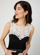 Sleeveless Sweetheart Neck Dress, Black, hi-res