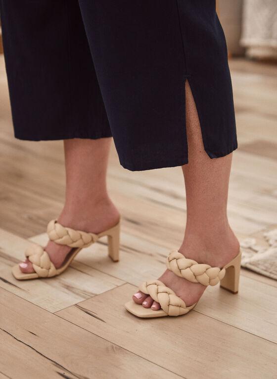 Pantalon gaucho à ceinture, Bleu