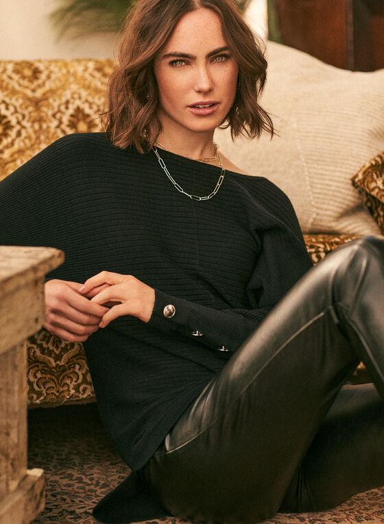 Dolman Sleeve Sweater, Black