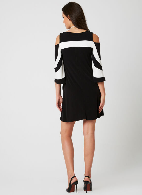 Nina Leonard - Bell Sleeve Dress, Black, hi-res