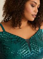 Off-the-Shoulder Mermaid Dress, Green