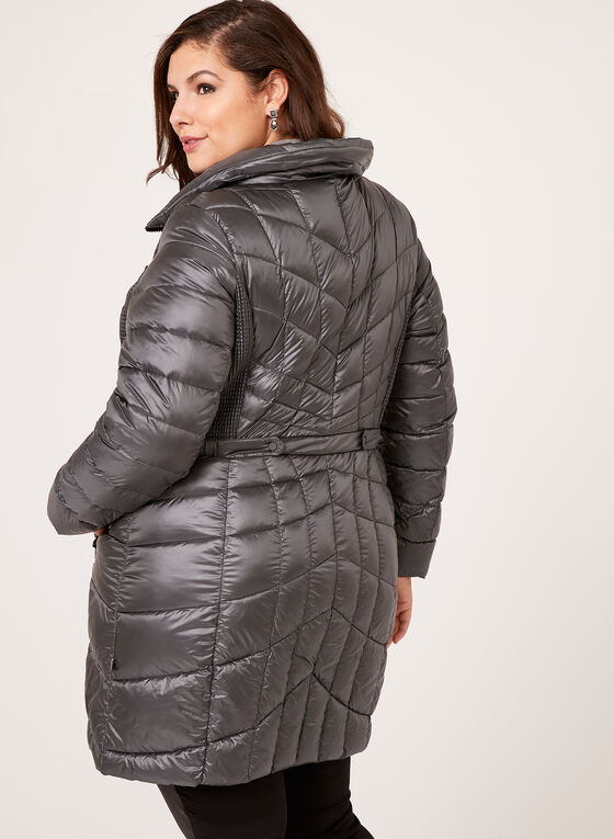B by Bernardo - PrimaLoft® & Down Filled Packable Coat, Grey, hi-res