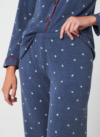 Claudel Lingerie - Ensemble pyjama, Bleu,  pyjama deux pièces