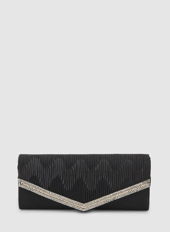 Crystal Detailed Envelope Clutch, Black, hi-res,  clutch, flap clutch, envelope clutch, crystal clutch, crystals, fall 2019, winter 2019