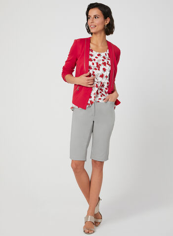 Bermuda coupe moderne en coton, Gris, hi-res,  bermuda, coupe moderne, coton, 4 poches, printemps 2019