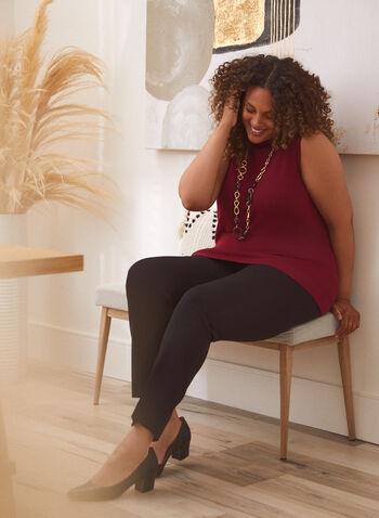 City Fit Straight Leg Pants, Black,  pants, city fit, straight, pleats, bi-stretch, fall winter 2020