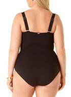 Anne Cole - Twist Front One Piece Swimsuit, Black
