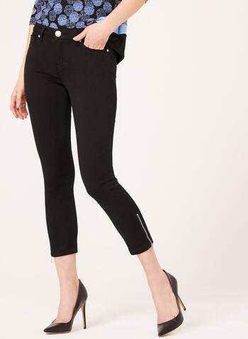 Modern Fit Soft Touch Capri Pants, Black, hi-res