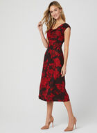 Glitter Jersey Dress, Red, hi-res