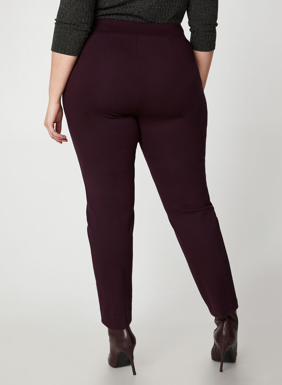 City Fit Pull-On Pants , Purple
