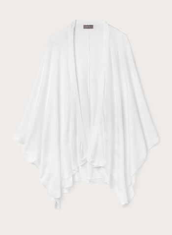 Mesh Stripe Poncho, Off White, hi-res