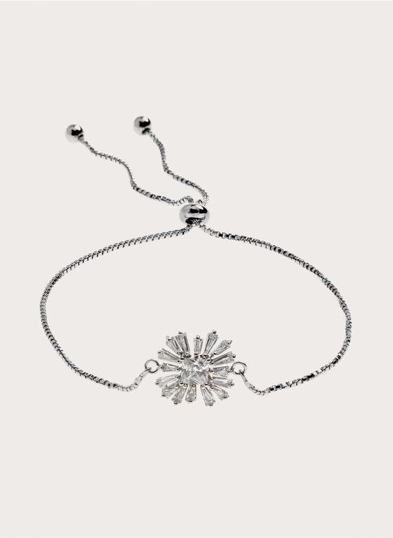 Bracelet maille serpent et cristaux, Argent, hi-res