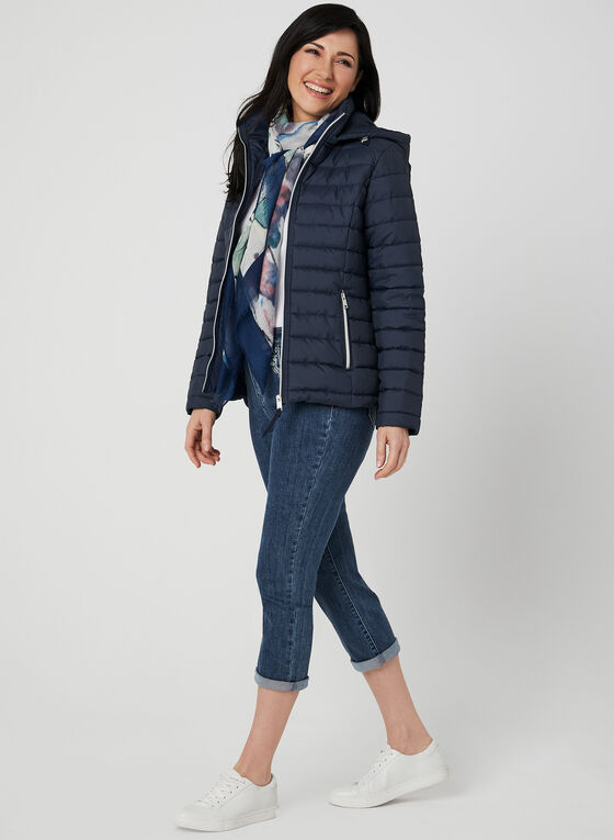 Novelti - Quilted Coat, Blue, hi-res