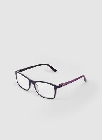 Lunettes de lecture rectangulaires, Violet,  lunettes de lecture, plastique, rectangulaire, automne hiver 2019