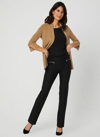 Mode de Vie - Signature Fit Slim Leg Pants, Black, hi-res