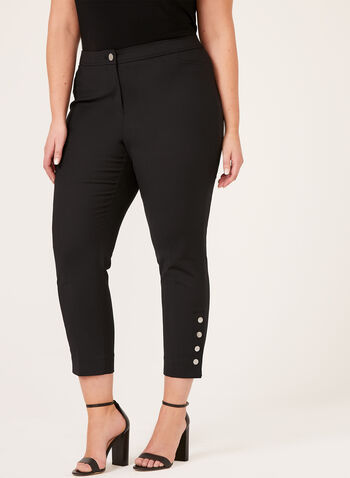 Modern Fit Slim Leg Pants , Black, hi-res