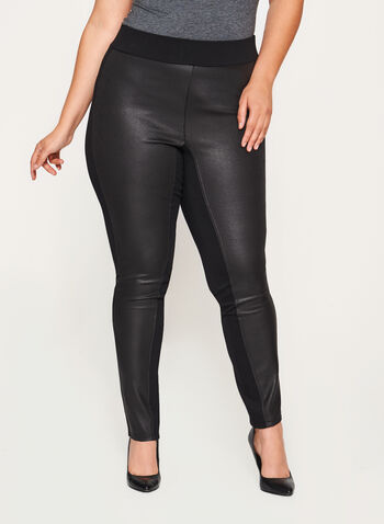 Faux Suede Ponte Leggings, , hi-res