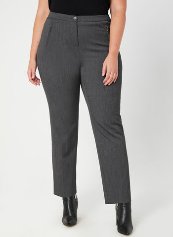 Signature Fit Straight Leg Pants, Grey,  Dress pants, winter pants, fall pants,classic pants