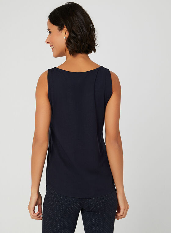 Sleeveless Scoop Neck Top, Blue, hi-res