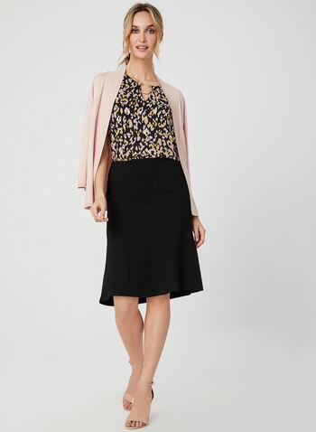 Trumpet Skirt, Black, hi-res