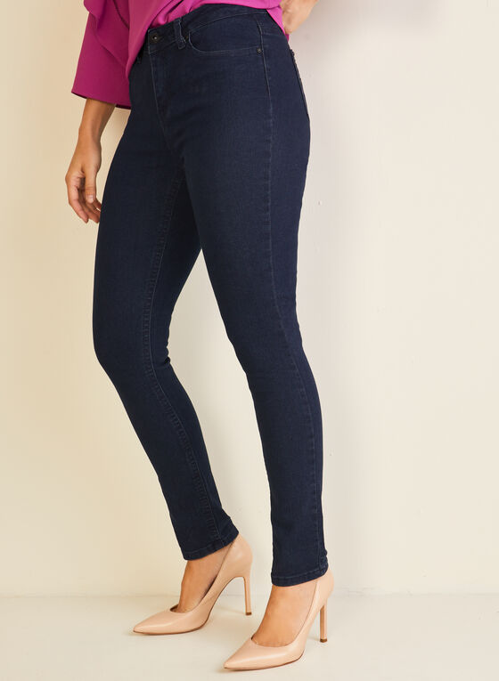 GG Jeans - Jeans droit à poches ornementées, Noir