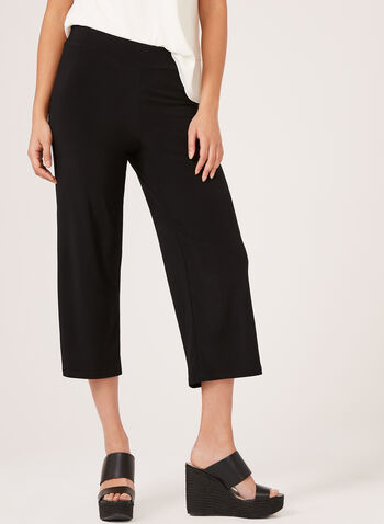 Wide Leg Capris, Black, hi-res