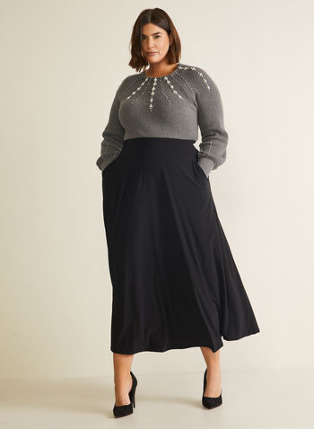 Pull-On Maxi Skirt, Black,  skirt, pull-on, maxi, pockets, fall winter 2020