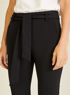 Slim Leg Pull-On Capris, Black