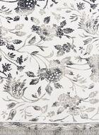 Foulard léger en mousseline de foie à fleurs, Noir, hi-res