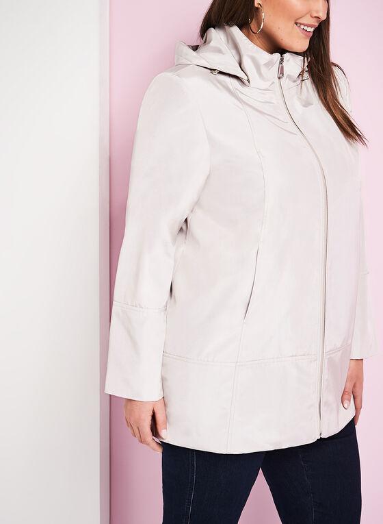 Novelti - Manteau imperméable irisé , Blanc cassé, hi-res