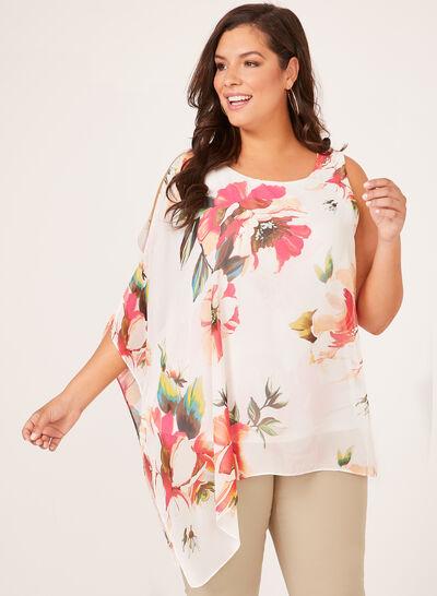 Floral Print One Shoulder Blouse