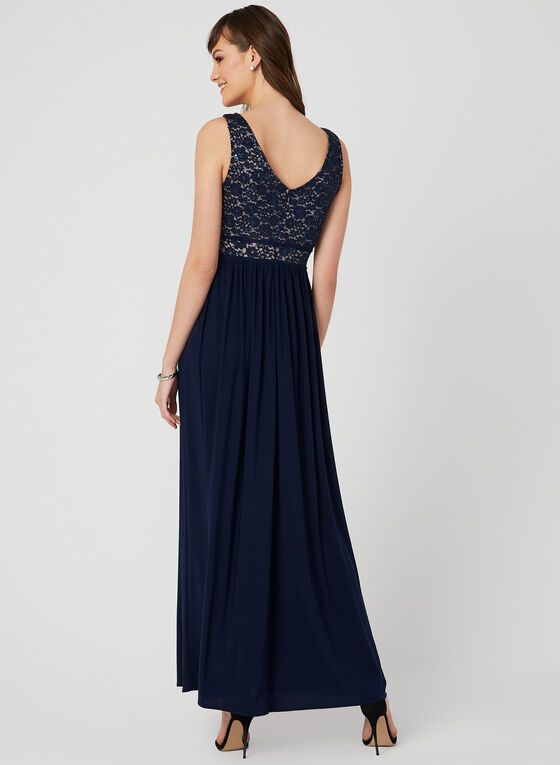 Glitter & Sequin Lace Dress, Blue