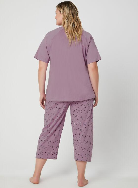 Bellina - Cat Print 2-Piece Pyjama Set, Purple